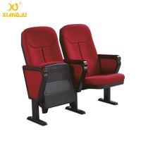 Buy cheap Cold molded foam 560mm Fabric Folding Auditorium Chairs with Writing Table / PP Sheel Pan from wholesalers