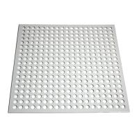 Buy cheap Round Shape Aluminum Powder Coating Perforated Metal Sheet Punching Mesh Customized Size product