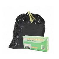 Buy cheap HDPE Black Drawstring Garbage Bags High Durability Environmental Friendly from wholesalers