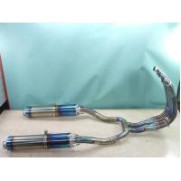 Buy cheap 60 / 70 / 80 CC Motorcycle Exhaust Pipe With Two Tube For Ax100 , Ybr125 , Automotive from wholesalers