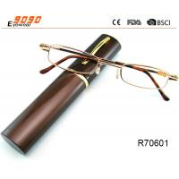 Buy cheap Unisex Super Light Metal frame Reading Glasses With Aluminum alloy tube Box from wholesalers
