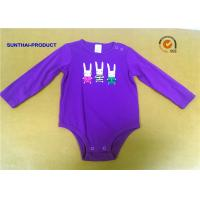 Buy cheap Rabbit Screen Print Baby Cotton Bodysuit , Pink Newborn Long Sleeve Bodysuit from wholesalers