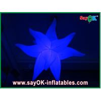 Buy cheap Purple Green Fireproof Giant Inflatable Stars LED Light For Party Decorations from wholesalers