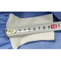 Buy cheap Knitted Cuff Disposable Hospital Gowns , Surgical Gowns Hook Loop Fastener from wholesalers