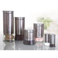 Buy cheap RG14110 Glass Storage Canister With Metal Coated from wholesalers
