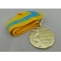 Buy cheap Gold Plated Ribbon Medals 3D from wholesalers