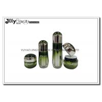 Buy cheap Ink Green Empty Makeup Containers Lotion Plastic Cosmetic Containers With Lids from wholesalers