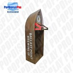 Buy cheap Visual Merchandising Custom Cardboard Shelf Display PVC Clear Window For Beverage Drinks from wholesalers