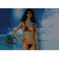 Buy cheap Orange And Black Crochet Swimwear 2 Piece Crochet Halter Bikini For Younger Girls from wholesalers