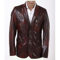 Buy cheap 100% Viscose and Knitting, Size 46, Size 48, Luxury and Designer Mens Leather Blazers product