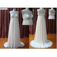 Buy cheap Light Pink Column Chiffon Beaded Beaded Neckline Sleeveless Modern Bridesmaids Dresses from wholesalers
