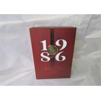Buy cheap Silk Ribbon Wine Packaging Boxes Personalized For Wedding , Red Color from wholesalers