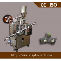 Buy cheap Pyramid Nylon Mesh Black Tea Bag Packing Machine with Thread and Tag from wholesalers