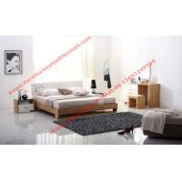 Buy cheap Streamline curved bed head in white painting and wood plate furniture product