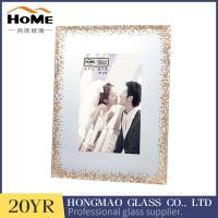 Buy cheap Modern Glass Photo Frames , Glitter Surrouded Lighted 4x6 Glass Picture Frames from wholesalers