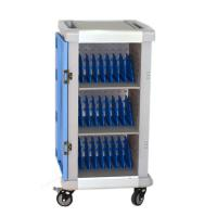 Buy cheap Laptop/Chromebook/Macbook charging cart with castor storage chaging for school classroom equipments AC socket from wholesalers