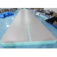 Buy cheap 33ft Mint Green home training Cheerleading Inflatable tumbling air mats for Gymnastics from wholesalers