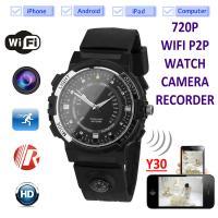 Buy cheap Y30 8GB 720P WIFI P2P IP Spy Watch Hidden Camera Recorder IR Night Vision Motion product