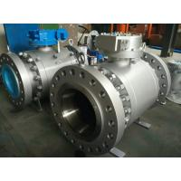 Buy cheap BS 5159 API 607 Trunnion Mounted Ball Valve Gear Long Pattern B16.5  B16.47  B16.25 from wholesalers
