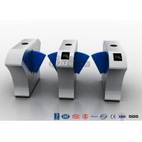 Buy cheap Stainless Steel Half Height Turnstiles , Acrylic Blue Flap Barrier Gate Bi-Directional Turnstile product