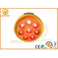 Buy cheap PP Plastic Red / Yellow / Blue LED Sunflower Solar Traffic Sign For Roadside Warning from wholesalers
