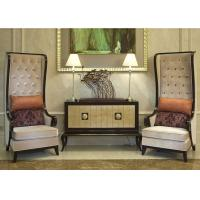 Buy cheap Luxurious AntiqueWooden Modern Walnut Console Table With Gold - Leaf from wholesalers