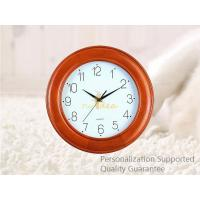 Buy cheap Custom Round Shape Wall Mounted Rubber Wood Wall Clock, Personalized Pattern and Logo, Small Order Quantity product