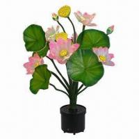 Buy cheap Silk Lotus Christmas Flower, Artificial Type, Fiber Optic Xmas Tree and Flower Centerpiece from wholesalers