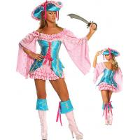 Buy cheap Wholesale Pirate Costumes Buccaneer Fantasy Costumes by Brocade and Lace in Pink Turquoise color available XXS to XXXL from wholesalers