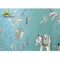 Buy cheap Decorative Embroidery Fabric Wall Covering For Study Seamless Split Joint from wholesalers