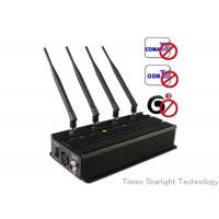 Buy cheap Desktop Smart Cell Phone Signal Jammer , Cellular Phone GPS WiFi Jammer from wholesalers