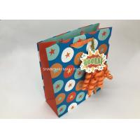 Buy cheap Kids Mini Extra Large Xmas Gift Bags , Blue / Brown Unique Children'S Christmas Gift Bags from wholesalers