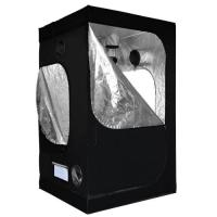 Buy cheap Black polyester hydroponics grow box greenhouse grow tent with Steel frame from wholesalers