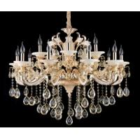 Buy cheap White Glaze and Jade Contemporary Crystal Chandeliers 15 Lights from wholesalers