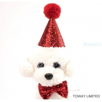 Buy cheap Holiday Dog Cute Hat Bowtie Collars Pet Wearing Accessories from wholesalers