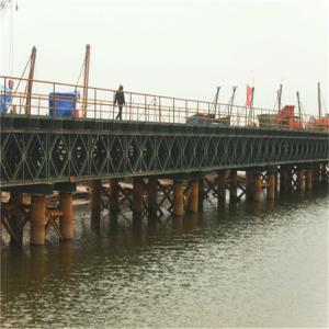 Buy cheap Hot Dip Galvanized Floating Pontoon Bridge Bailey Type Temporary Road Bridge product