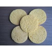 Buy cheap Cellulose Facial Sponges with  Comfortable Wood Pulp Fibers Different Shape Thick from wholesalers