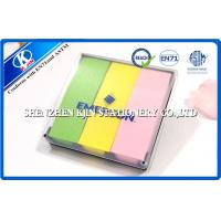Buy cheap Green / Yellow / Pink  Memo Sticky Notes In Clear PVC Case For Students from wholesalers