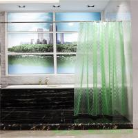 Buy cheap mildew proof  3d effect eva peva bathroom shower curtain liner 10 guage with grommet from wholesalers