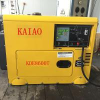 Buy cheap KDE8600T Four Wheels Compact Diesel Generator Industrial 3600 Rpm Engine Speed product