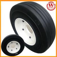 Buy cheap airport ground support equipment 4.00-8 solid tire with twin-disk 5-studs rim assembly from wholesalers