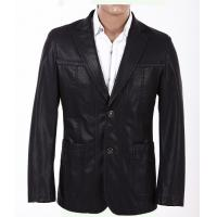 Buy cheap Wholesale Quality Size 50, Size 52, Black Stylish and Casual Mens Leather Blazers product