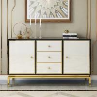 Buy cheap Wooden Hotel White Bedside Cabinets , Side Cabinets For Living Room from wholesalers
