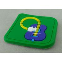 Buy cheap Soft PVC Awards 2D PVC Coaster Fridge Magnet , Green Plastic 3D Keychain from wholesalers