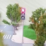 Buy cheap model 1:87 Mini Traffic Light,3 aspect signal metal lamp post,model three aspect signal lights,HO guage traffic lights from wholesalers
