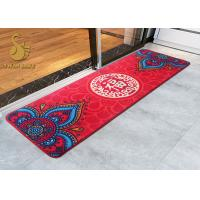 Buy cheap Red Outdoor Patio Mat Nonwoven Felt Backing Reversible for Camping / Picnic from wholesalers