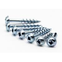 Buy cheap T17 Cut Round Washer Head Wood Screws / Kreg Self Tapping Wood Screws from wholesalers