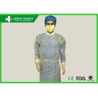 Buy cheap Durable Long Sleeve Disposable Exam Gowns Elasticated , Yellow White And Blue from wholesalers