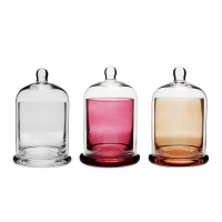 Buy cheap Factory direct wholesale high quality glass bell jar candlestick product