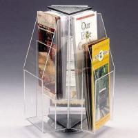 Buy cheap Rotating A4 Brochure Acrylic Display Holder Stands Countertop Custom product